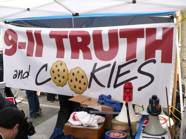 Image of banner: 9-11 truth and cookies
