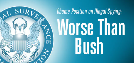 EFF Graphic about government surveillance: Obama worse than Bush on illegal spying