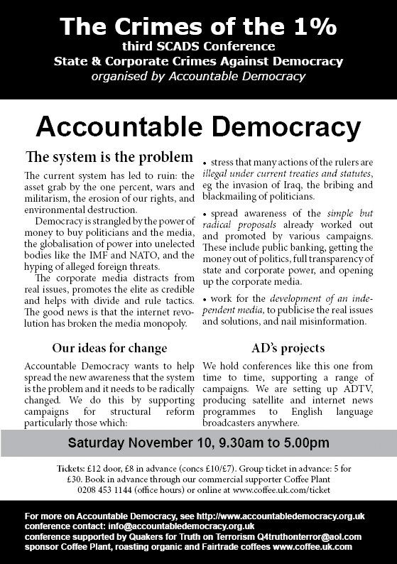Accountable Democracy Conference Flyer