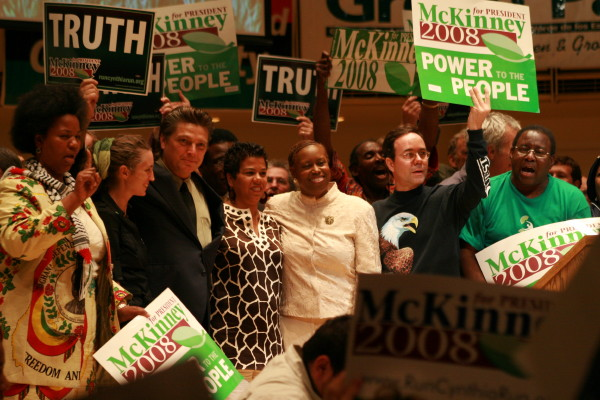 Photo of Cynthia McKinney, green party candidate