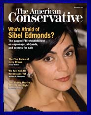 Image of Sibel Edmonds on American Conservative Cover Story