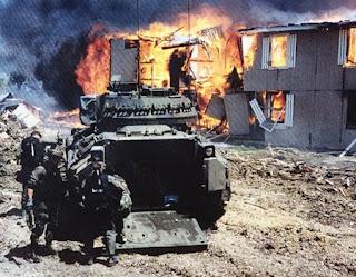 Photo of Branch Davidian Complex at Waco Burns