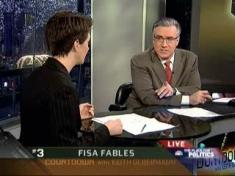 Image of Olberman and Maddow reporting on Mukasey's FISA Fables