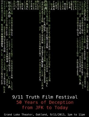 Poster for 9/11 Truth Film Festival -- 50 Years of Deception