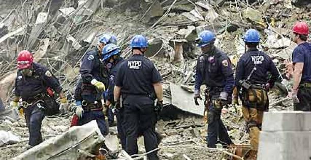 Photo of First responders at Ground Zero
