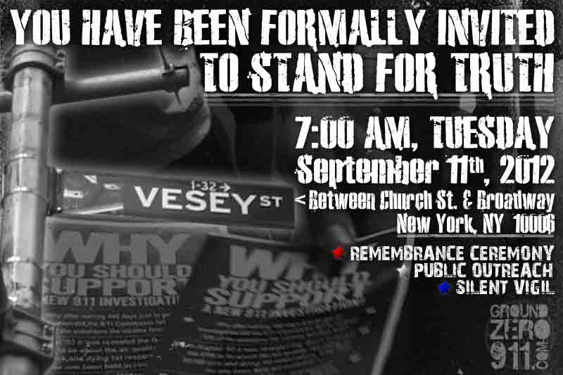 Invitation to Remembrance Ceremony 9/11/12