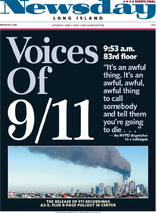 Cover of Newsday: Voices of 9/11
