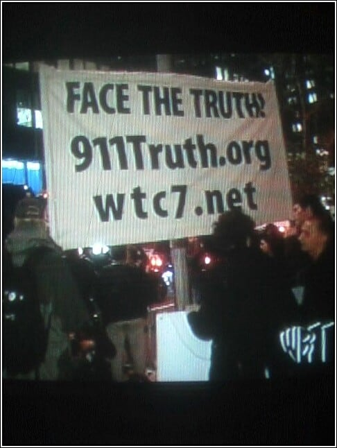 Screenshot of Face the Truth banner NYC