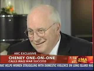 Screen capture of Cheney TV interview: Cheney Calls Iraq War a Success