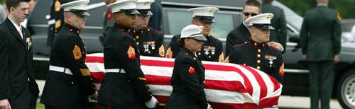 Image of flag-draped coffin: How Many Additional Dead Americans Was Saddam Worth?