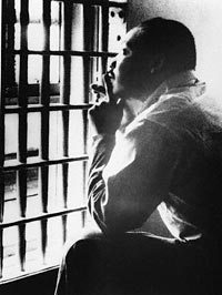 Photo of Martin Luther King in Jail