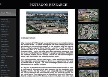 Image of Pentagon Research web page