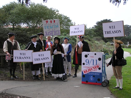 Scene from San Francisco 9/11 Truth Tea Party