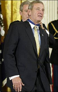 President Bush Gives Tommy Franks the Medal of Freedom