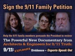 9/11 Families ask you to sign the 9/11 Family Petition