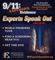 Poster for 911: Explosvie Evidence -Experts Speak Out World Premiere Tour