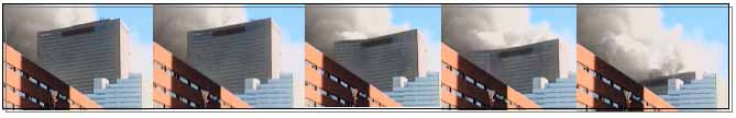 Filmstrip collapse sequence of WTC 7