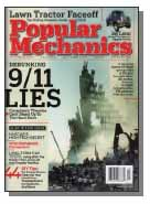 Cover image of Popular Mechanics 9/11 Lies issue