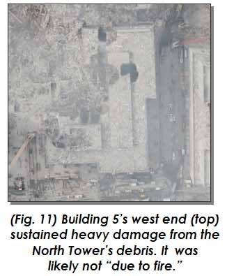 Photo of World Trade Center Building 5 damage