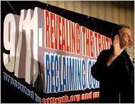 2006 Revealing the Truth Conference speaker in front of podium