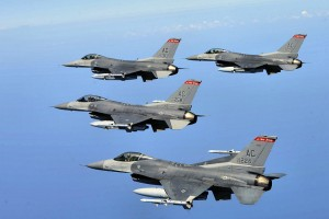 Image of 177th Atlantic City Fighter Wing F-16's