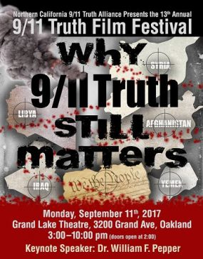 Poster for the Northern California 911 Truth Film Festival 2017: Why 9/11 Truth Still Matters