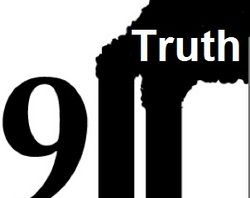 "911 truth logo with the ""1's"" shaped like the WTC Twin Towers"