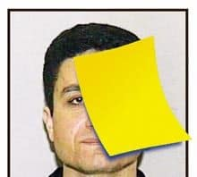 Image of Atta from Able Danger with sticky note over his face