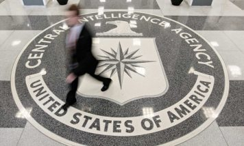 CIA employees in CIA Headquarters Building