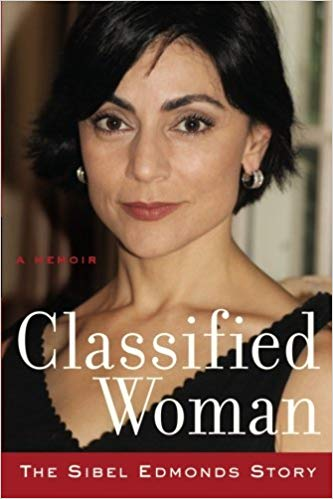 Cover photo of Sibel Edmonds from her memoir 'Classified Woman' that the FBI wants to censor