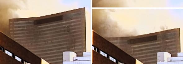 Still frames of the inside collapse of WTC 7