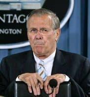 Donald Rumsfeld giving a Pentagon Briefing