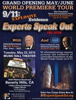 grand Opening poster announcing the release of the FINAL EDITION of AE911Truth.org's documentary: 9/11 Explosive Evidence Experts Speak Out