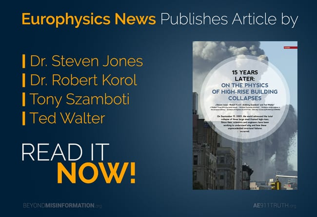 Collapse article appears in Europhysics News