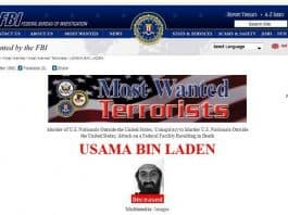 Osama bin laden's Most Wanted poster
