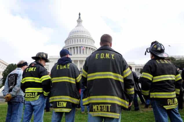 Photo of FDNY first responders suffering from 9/11-related illnesses on Capitol Hill