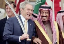 Photo of George Bush and King Fahd