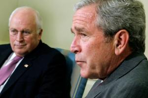 Photo of George W Bush and Dick Cheney