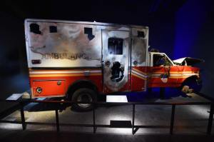 Image of ambulance in Memorial Museum