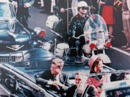John F. Kennedy in Dallas motorcade