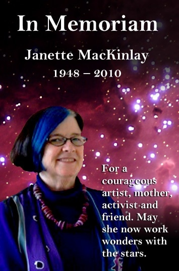 Image of Memoriam and photo planned for Janette MacKinlay