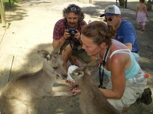 Photo of Janice with Kangaroo