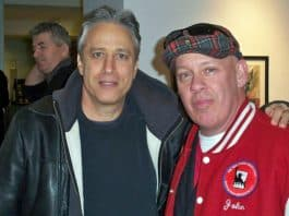 Photo of Jon-Stewart-with-john-Feal