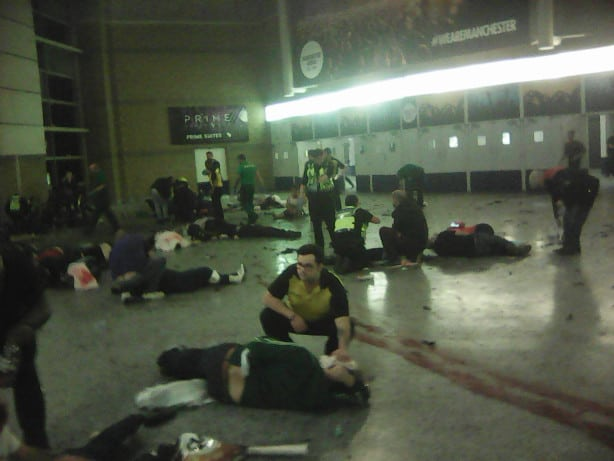 Image from Manchester terrorism attack