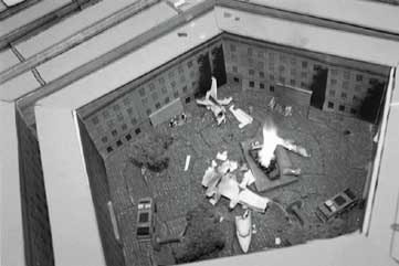Photo of a table top Mass Casualty Exercise at Pentagon, one of several exercises anticipating the 9/11 attacks