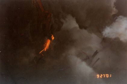 Photo of Molten metal at WTC site by Frank Sillechia