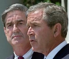 FBI Director Robert Mueller with President Bush