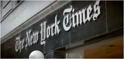 Photo of of New York Times building entrance