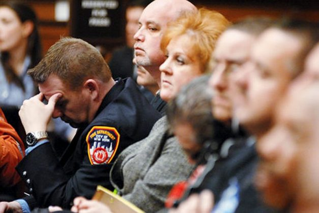 Retired Firefighter Kenneth Specht holds head in disbelief that Zadroga Health Act will not cover cancer