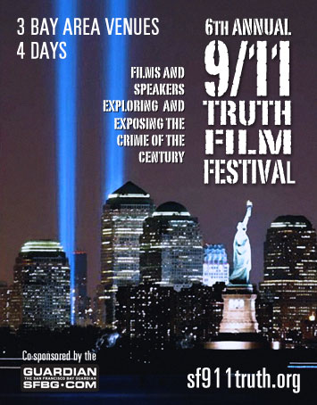 Image of poster for 6th Annual 9/11 Truth Film Festival